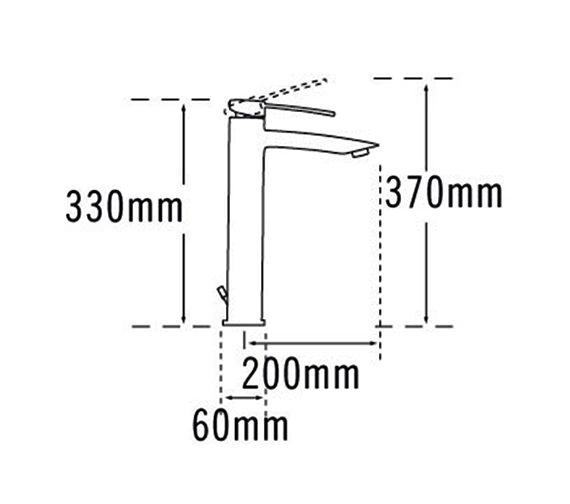 Technical drawing QS-V57045 / 42075