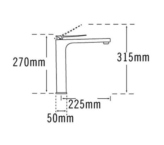 Technical drawing QS-V57053 / 25875