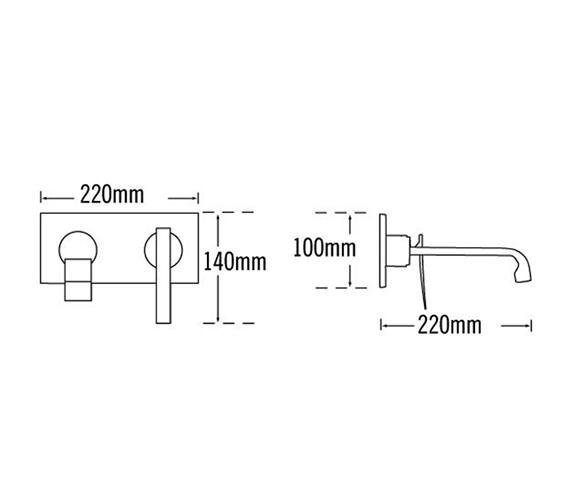 Technical drawing QS-V57054 / 25872