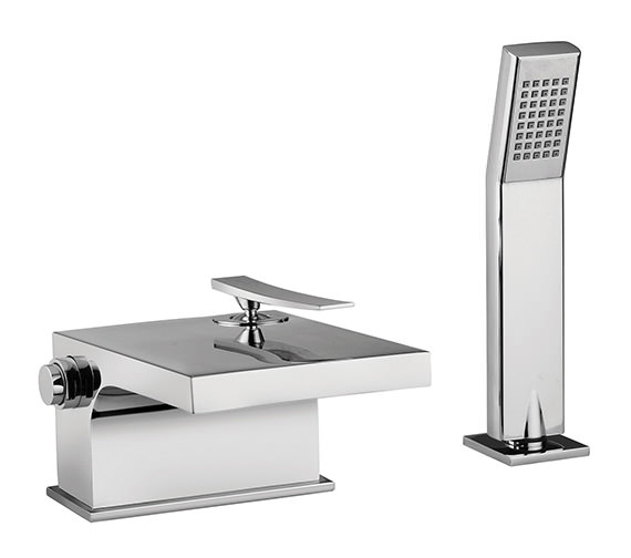 Tre Mercati Dance Waterfall Bath Shower Mixer Tap With Shower Kit