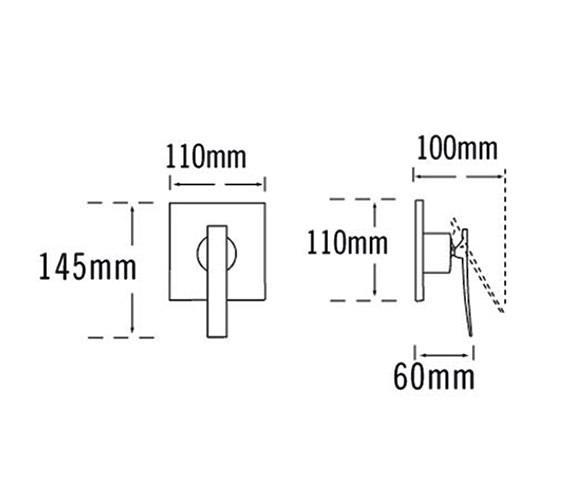 Technical drawing QS-V57057 / 25890