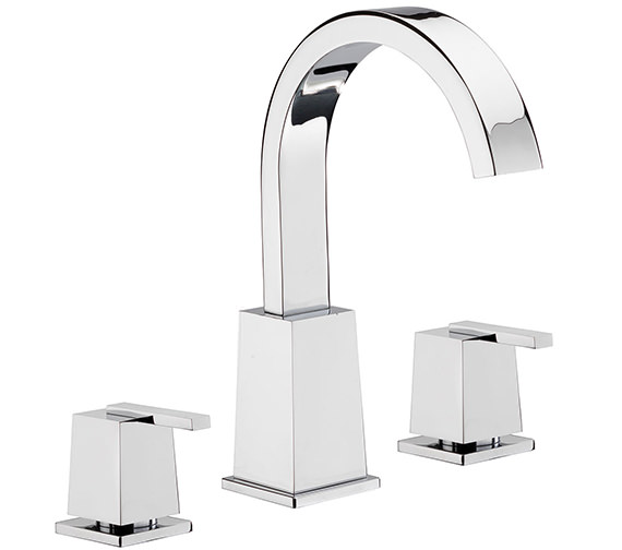 Tre Mercati Mr Darcy 3 Hole Basin Mixer Tap With Click Clack Waste