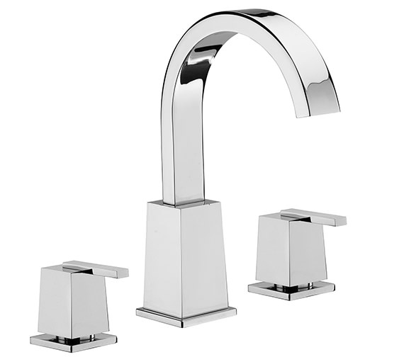 Tre Mercati Mr Darcy 3 Hole Bath Filler Tap Chrome - 53040