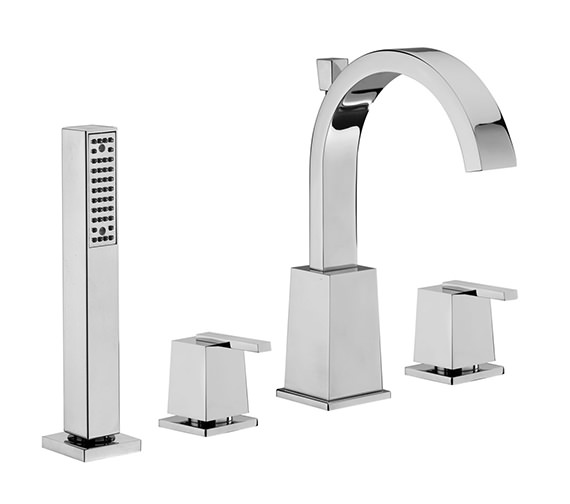 Tre Mercati Mr Darcy 4 Hole Bath Shower Mixer Tap With Shower Kit