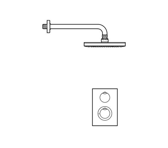 Technical drawing QS-V57560 / 5A2862C00