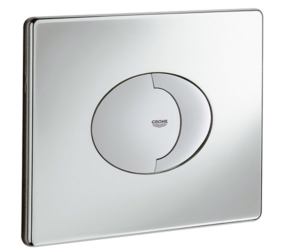 Grohe Skate Air Dual Horizontal WC Flush Wall Plate Chrome - 38506000