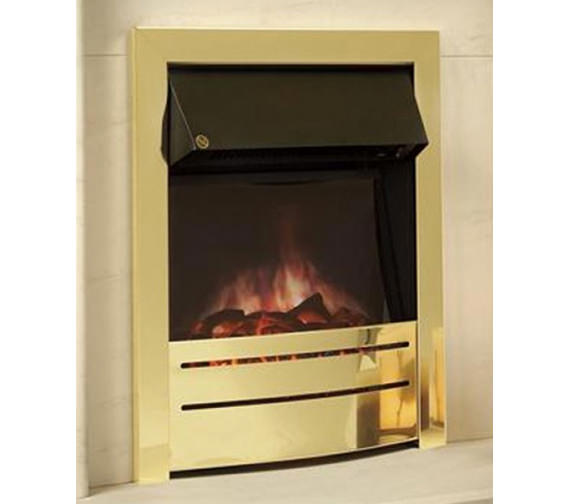 Celsi Ultiflame Contemporary Brass Finish Electric Fire