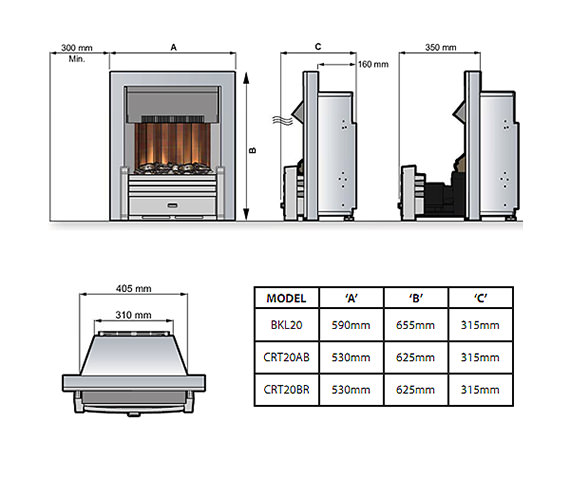 Technical drawing QS-V57704 / CRT20AB