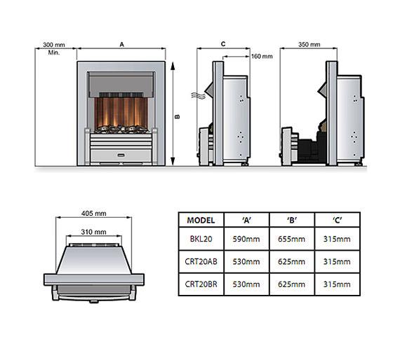 Technical drawing QS-V57705 / CRT20BR