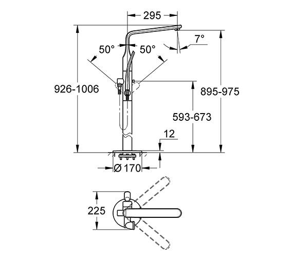 Technical drawing QS-V57730 / 32222001