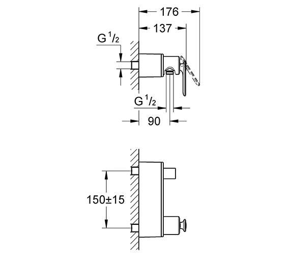 Technical drawing QS-V57732 / 32197000