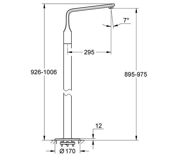 Technical drawing QS-V57734 / 13245000