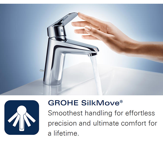 Additional image of Grohe Eurodisc Joy Single Lever Bath Shower Mixer Tap Moon White