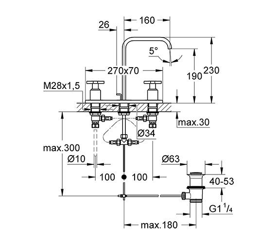 Technical drawing QS-V57745 / 20143000