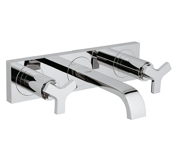 Grohe Allure 3 Hole Wall Mounted Basin Mixer Tap