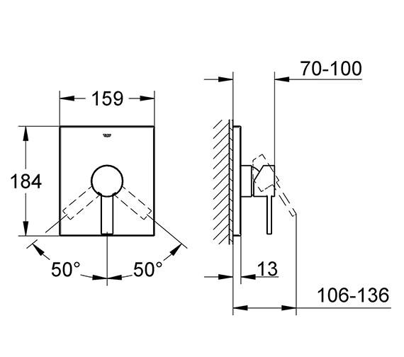 Technical drawing QS-V57751 / 19317000