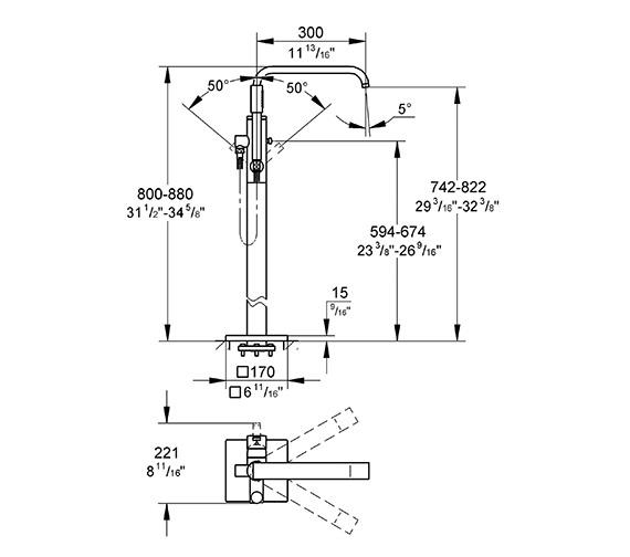 Technical drawing QS-V57767 / 32754001