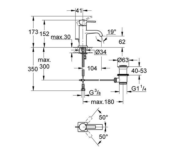 Technical drawing QS-V57768 / 32757000
