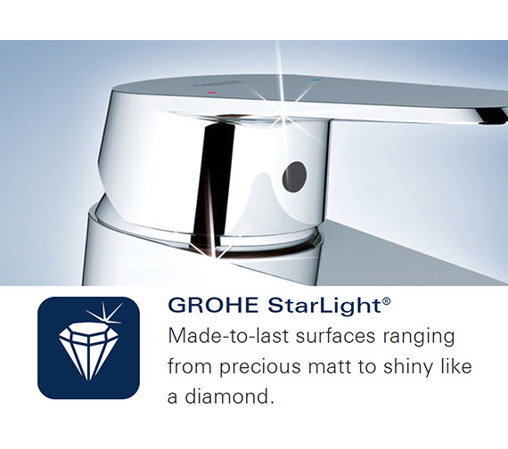 Additional image of Grohe Lineare 2 Hole M Size Chrome Basin Mixer Tap