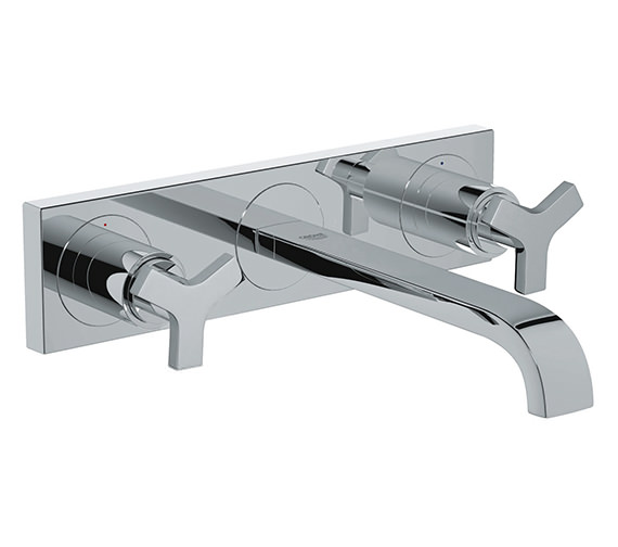 Grohe Spa Allure 3 Hole Basin Mixer Tap Chrome With Concealed Body
