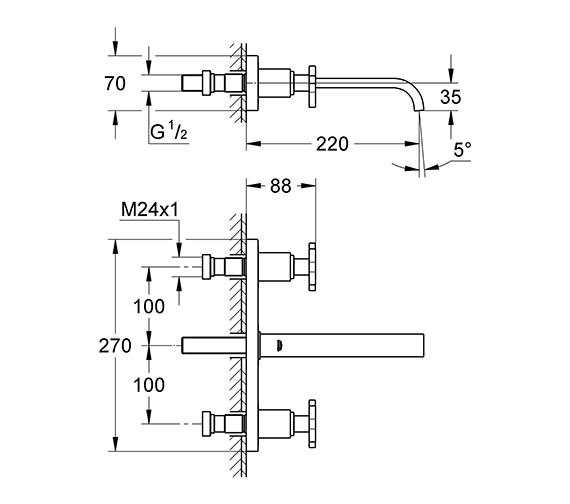 Technical drawing QS-V57772 / 20192000