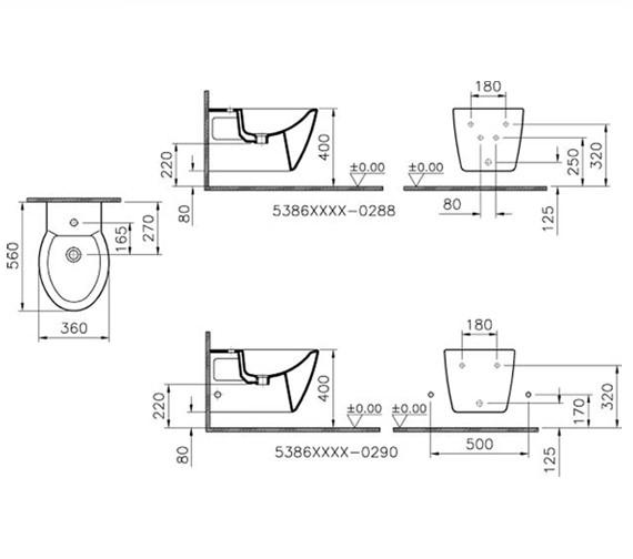 Technical drawing QS-V57829 / 5386B003-0288