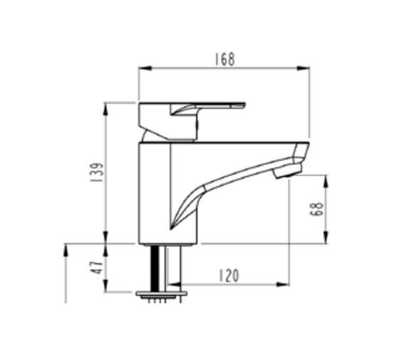Technical drawing QS-V57849 / A40754VUK