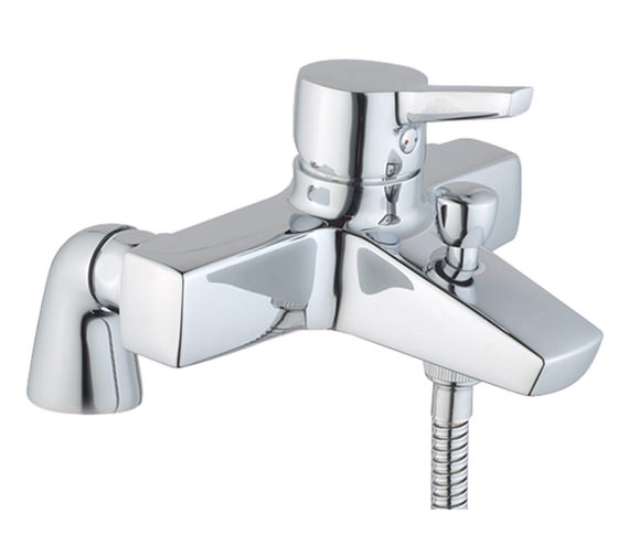VitrA Slope Bath Shower Mixer Tap With Showerhead - A40470VUK