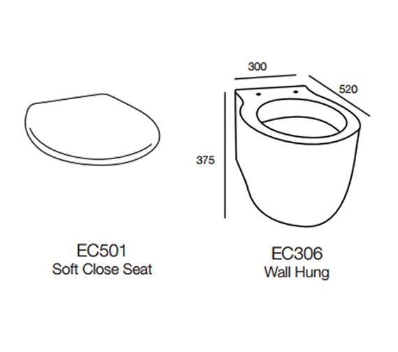 Technical drawing QS-V57917 / EC306
