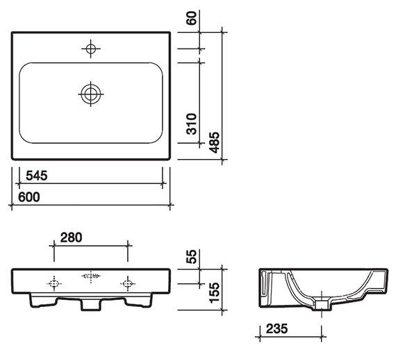 Technical drawing QS-V58003 / 3D4711WH