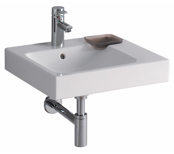 Twyford 3D Washbasin With Right Hand Shelf Space 500mm - 3D4411WH