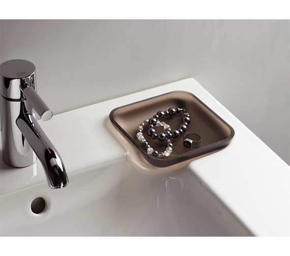 Additional image of Twyford 3D Washbasin With Right Hand Shelf Space 500mm - 3D4411WH