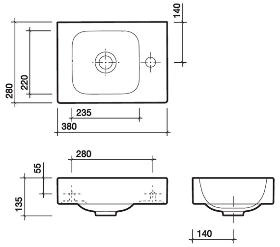 Technical drawing QS-V58005 / 3D4811WH