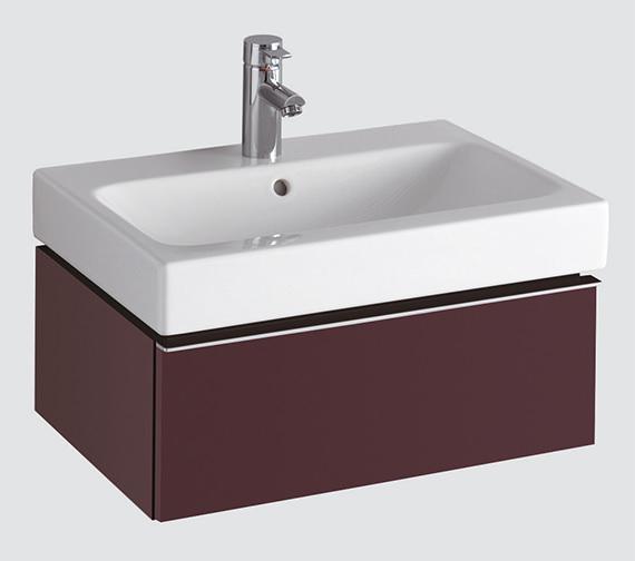 Twyford 3D Washbasin And Plum Vanity Unit 1 Drawer 600mm