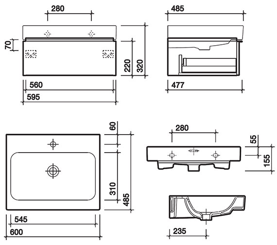 Technical drawing QS-V58006 / 3D4711WH