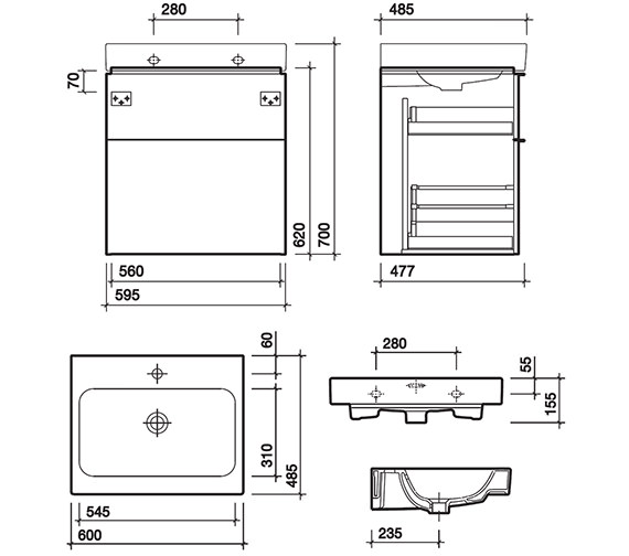Technical drawing QS-V58008 / 3D4711WH