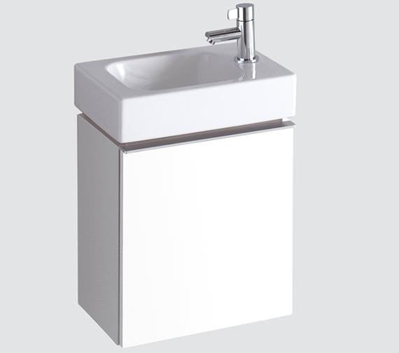 Twyford 3D 380mm Handrinse Basin And Alpine White Vanity Unit