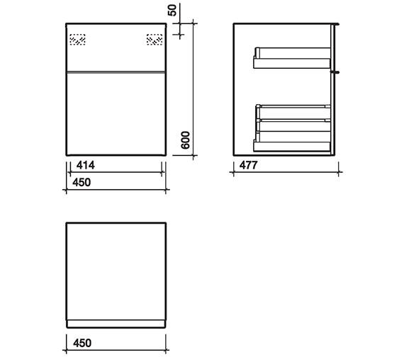 Technical drawing QS-V58011 / 3D0801WH