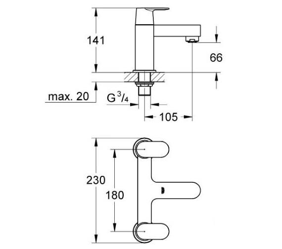 Technical drawing QS-V58257 / 25128000