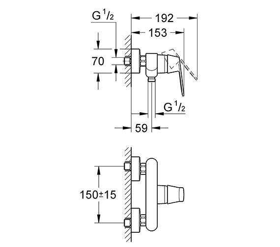 Technical drawing QS-V58259 / 32837000