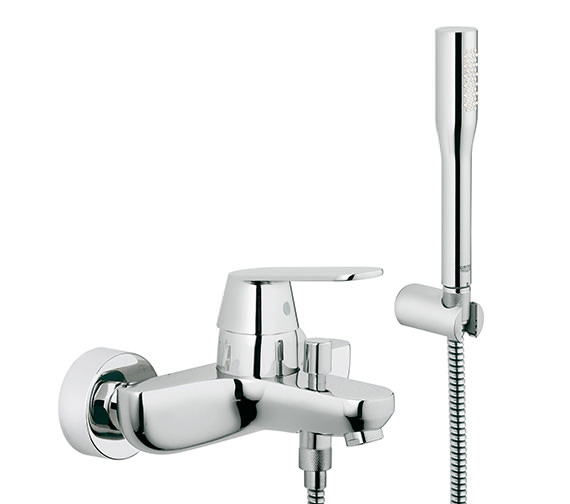 Grohe Eurosmart Cosmo Wall Mounted Bath Shower Mixer Tap With Kit