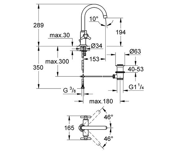 Technical drawing QS-V58276 / 21019000