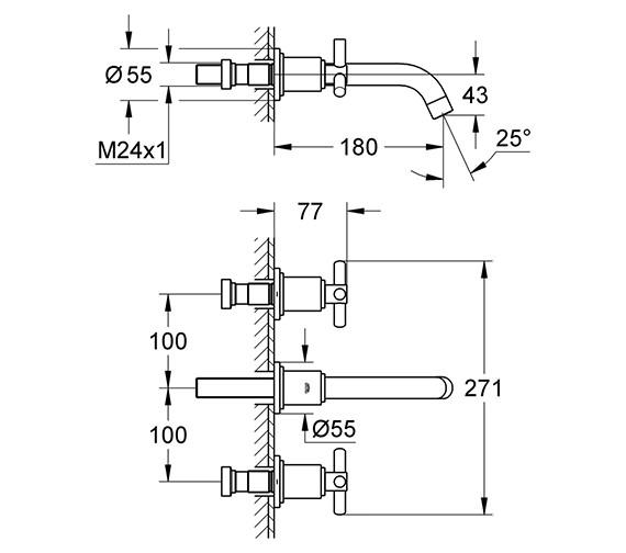Technical drawing QS-V58279 / 20164000