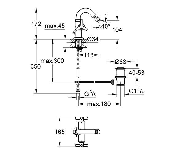 Technical drawing QS-V58280 / 24027000