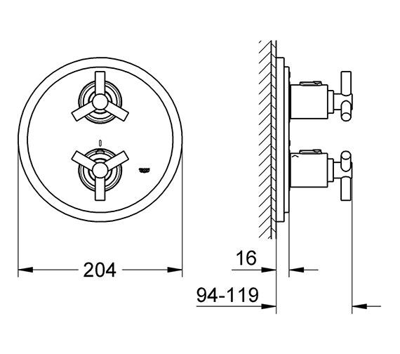 Technical drawing QS-V58284 / 19394000