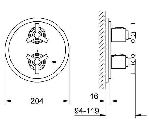Technical drawing QS-V58286 / 19395000