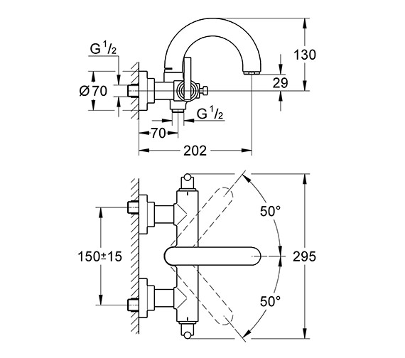 Technical drawing QS-V58290 / 25011000