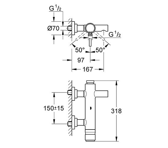 Technical drawing QS-V58301 / 32652001