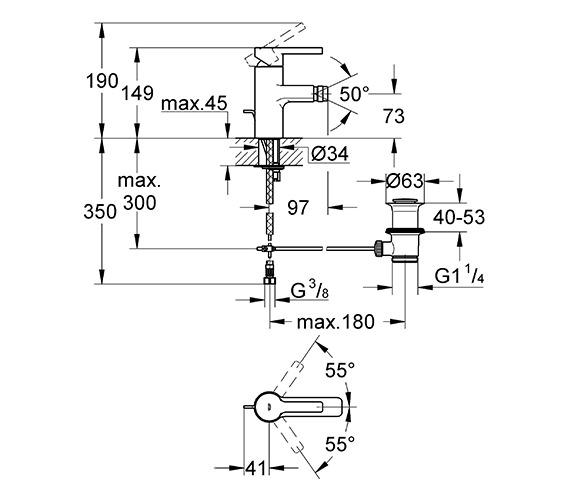 Technical drawing QS-V58308 / 33848000