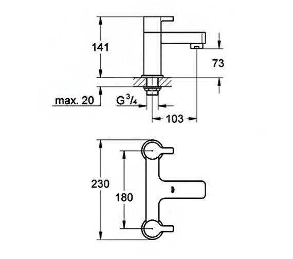 Technical drawing QS-V58309 / 25104000